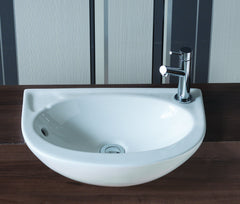 Opal Slim Semi-Recessed Basin (1TH)
