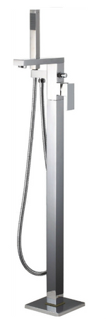 Grosvenor Floorstanding Single Lever Bath Shower Mixer inc. Shower Kit - C2B Trade Store
