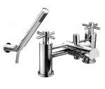 Trio Cross-Head Fixed Spout Bath Shower Mixer inc. Shower Kit - C2B Trade Store