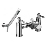 Trio Lever-Head Fixed Spout Bath Shower Mixer inc. Shower Kit - C2B Trade Store