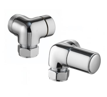 Corner Radiator Valves (Pair) - Chrome - C2B Trade Store