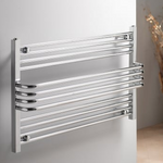 Caribbean 600x1000 Horizontal Towel Rail - Chrome - C2B Trade Store