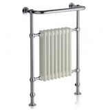 Florence 965x675 Rail - Chrome with White Radiator - C2B Trade Store