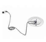 QX Plug & Chain Basin Waste - Chrome - C2B Trade Store