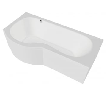 California 1700x700 Shower Bath with Option 2 Whirlpool - Left Hand - C2B Trade Store