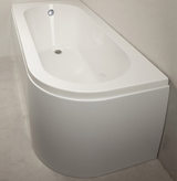 Kansas 1700x725 Offset Bath with Option 5 Whirlpool - C2B Trade Store