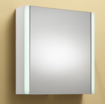 Monica 50 1-Door Mirrored Cabinet with Integrated Lights - C2B Trade Store