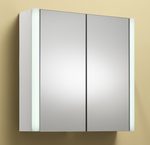 Monica 60 2-Door Mirrored Cabinet with Integrated Lights - C2B Trade Store