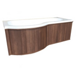 P-Shaped Shower Bath Wooden Panel - C2B Trade Store