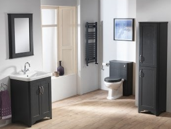 Rimini 60 Slimline WC Base Unit - Ash Grain Graphite - C2B Trade Store
