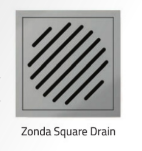 Zonda Square Drain (for rectangular trays) - 150mmx150mm - C2B Trade Store