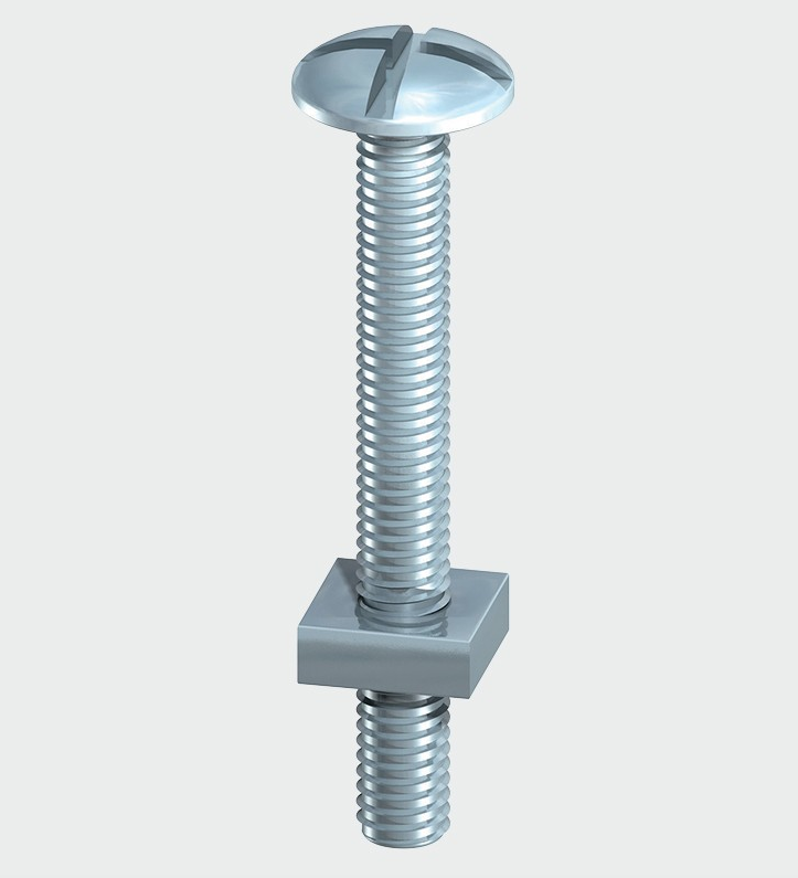 Roofing Bolt & SQ Nut - BZP - C2B Trade Store