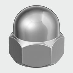 Hex Dome Nut DIN 1587 - A2 SS