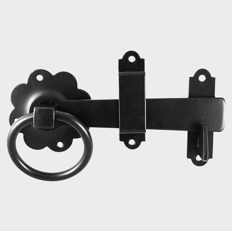 Ring Gate Latch - Plain Black - C2B Trade Store