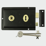 Rim Sash Lock Fluted - Black - C2B Trade Store