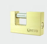 Veto Rectangle Brass Padlock - C2B Trade Store