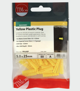 Yellow Plastic Plug - C2B Trade Store
