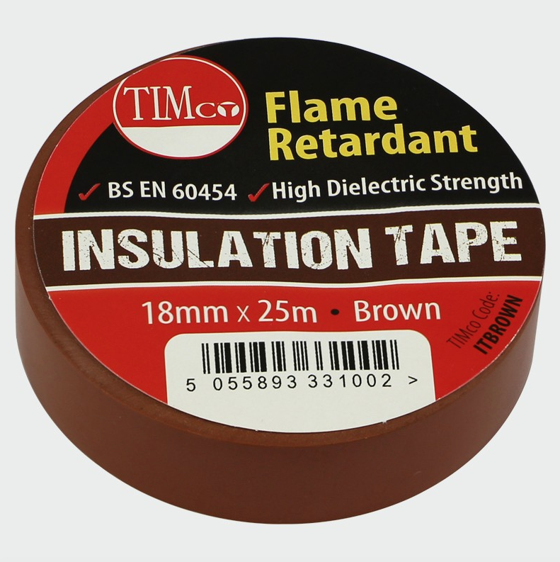 PVC Insulation Tape - Brown - C2B Trade Store