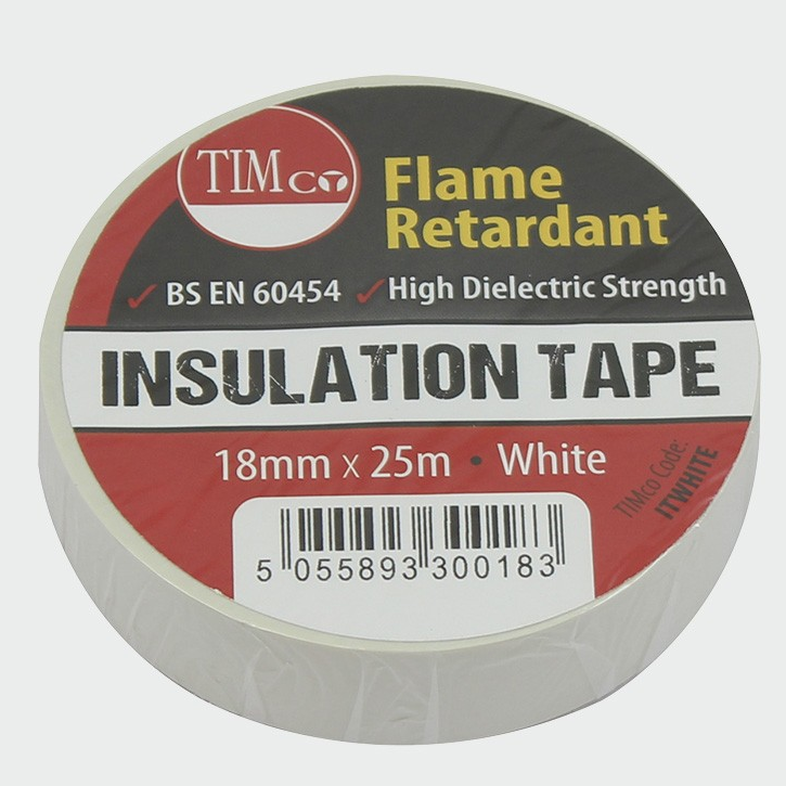 PVC Insulation Tape - White - C2B Trade Store