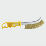 Yellow Handle Wire Brush Brass - C2B Trade Store
