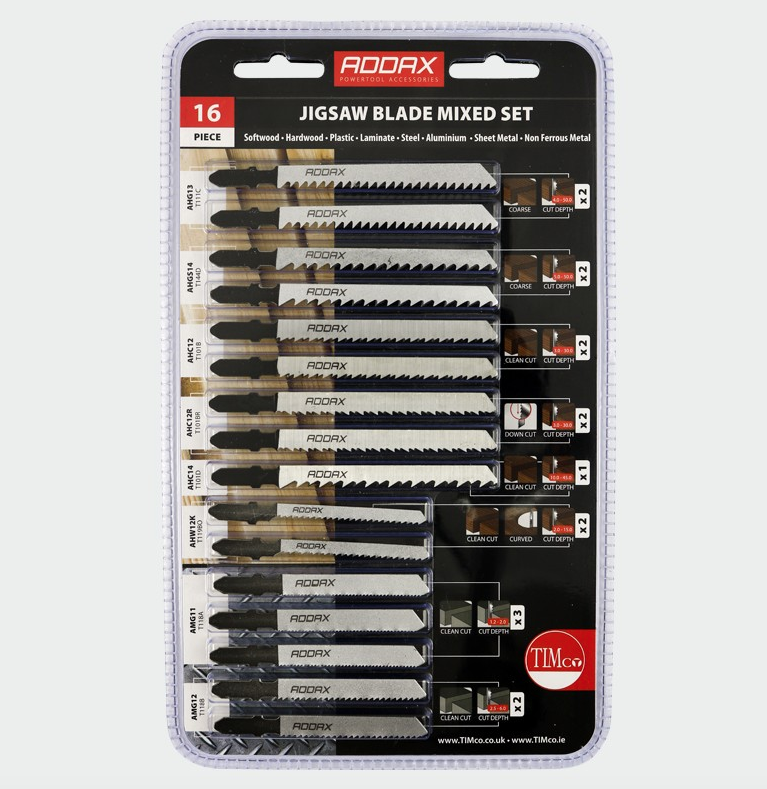 Jigsaw Blade Mixed Set - 16pcs - C2B Trade Store