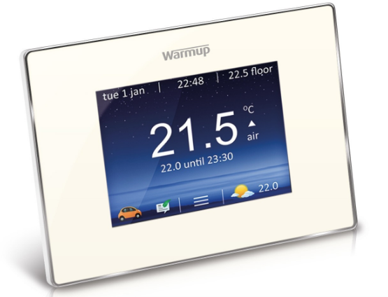 Warmup 4iE Smart WiFi Thermostat - Bright Porcelain - C2B Trade Store