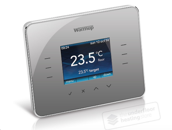 Warmup 3iE Thermostat - Silver grey - C2B Trade Store