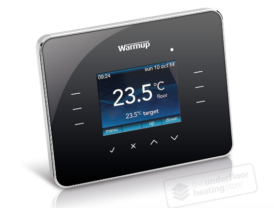 Warmup 3iE Thermostat - Piano Black - C2B Trade Store