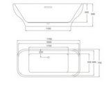 Metropolitan Freestanding Bath with Pre-Fitted Click-Clack Waste - C2B Trade Store