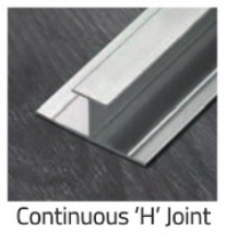 Alpha Wall Panelling - Continous Joint - Chrome - C2B Trade Store