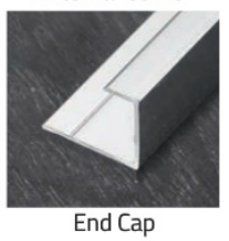 Alpha Wall Panelling - End Cap - Chrome - C2B Trade Store