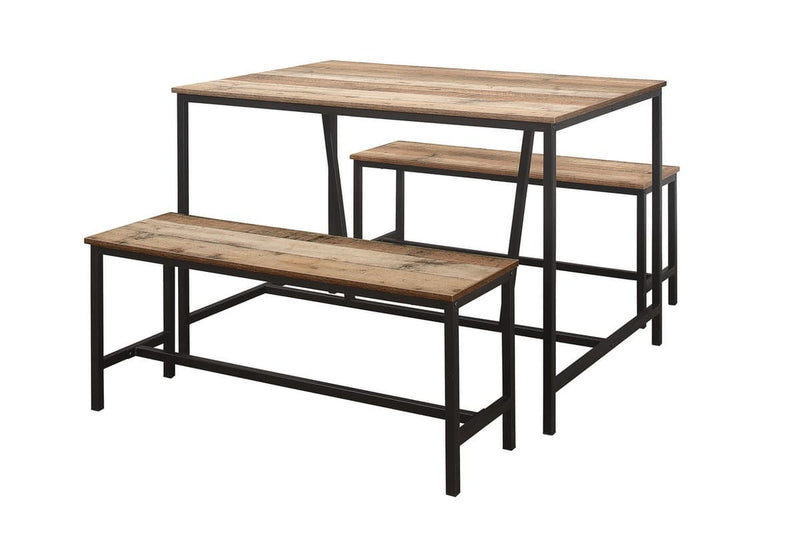URBAN DINING TABLE AND BENCH SET RUSTIC - C2B Trade Store