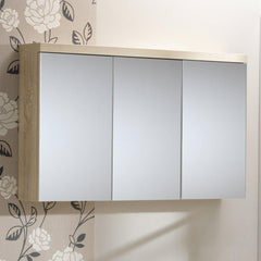 Eden 100 3-Door Mirrored Cabinet