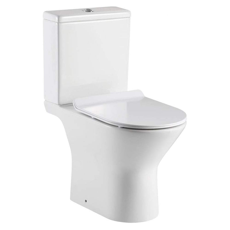 QX Venice Rimless Open Sided WC including Soft Close Seat - C2B Trade Store