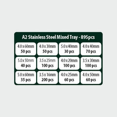 Classic A2 SS Screw Mixed Tray