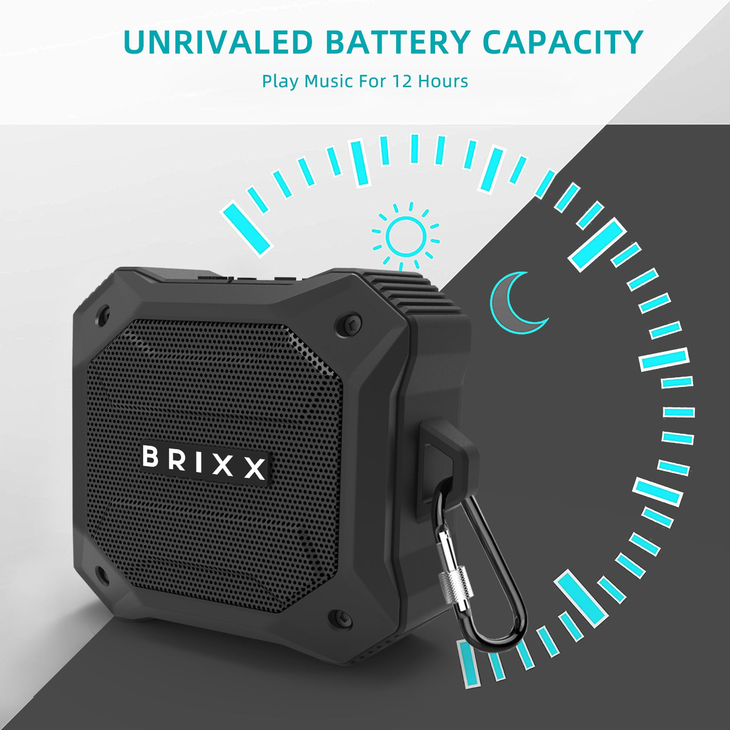 Brixx Explorer D520 Rugged Outdoor Bluetooth Speaker(Grey & Black)