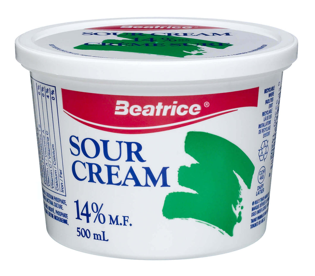 Sour Cream, Beatrice 14% - 500mL