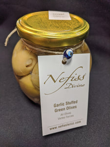 Nefiss Garlic Stuffed Olives (200g)