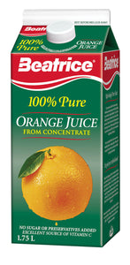 Beatrice Orange Juice 1.75L