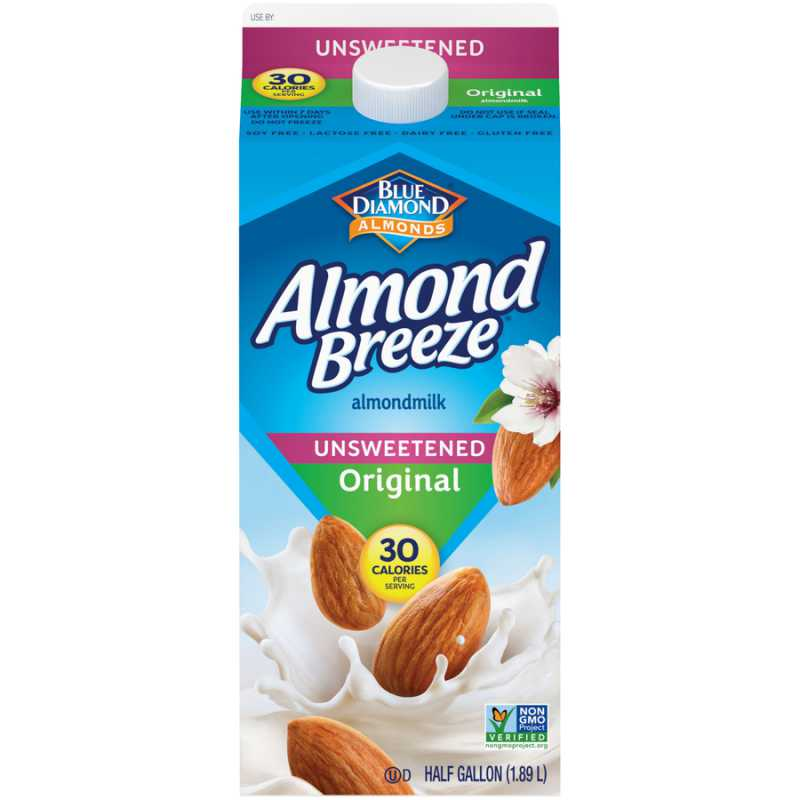 Almond Breeze Almond Milk Original Unsweetened 1.89L