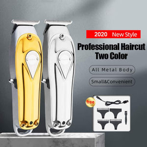 Mini Full Metal Body Professional Cordless Clipper With LED Display