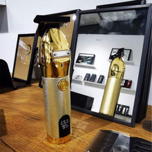 Load image into Gallery viewer, (HOT SALE!)Gold Skeleton Cordless Clipper with LCD Power Display
