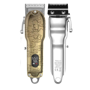 The 2nd Generation Retro Cordless T-Blade Clipper with LCD Display