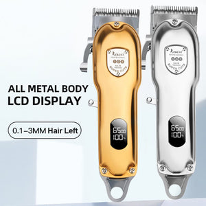 All Metal Body Professional Cordless Clipper With LCD Display