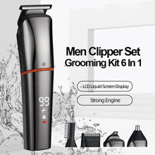 Load image into Gallery viewer, 6 In 1 Hair Grooming Kit Waterproof Cordless Clipper