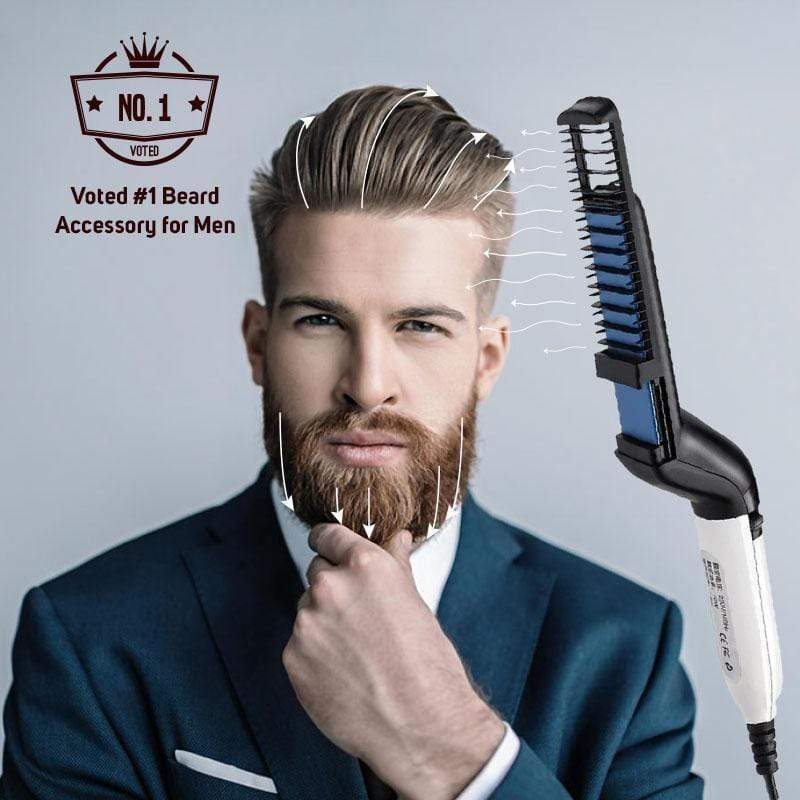 2 in 1 Men's Straight & Curly Hair Styling Comb
