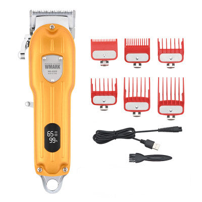 3-Color Full Metal Body Hair Clipper With LCD Display