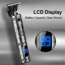 Load image into Gallery viewer, The 2nd Generation Retro Cordless T-Blade Clipper with LCD Display