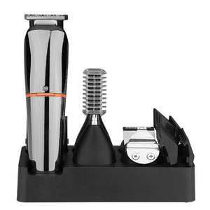 6 In 1 Hair Grooming Kit Waterproof Cordless Clipper