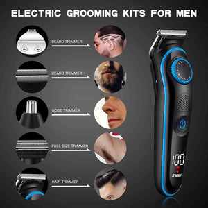 5-in-1 Multi-Function Electric Clipper With LCD Display